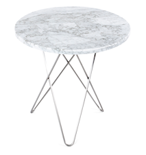Tall mini O-table - Marmor