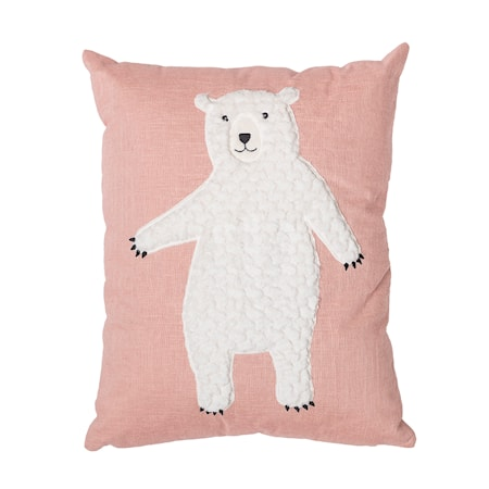 Bloomingville Kudde Bear - Rosa – Barn - Inredning - Dekoration 2c79951249591