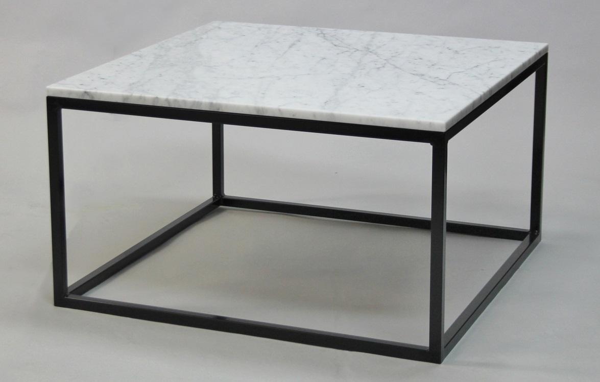 M?bler / Bord / Soffbord / Kvadratisk marmor soffbord helkub