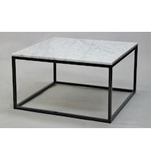 Kvadratisk marmor soffbord helkub