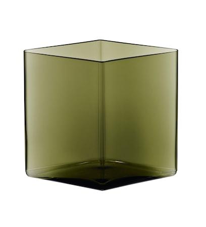 Bild av Iittala Ruutu vas 205x180 mm Mossgrön
