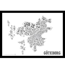 Göteborgskartan poster