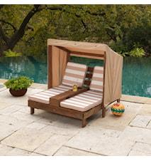 Duble chaise lounge solstol
