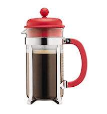 Caffettiera Kaffebryggare 8 koppar Röd