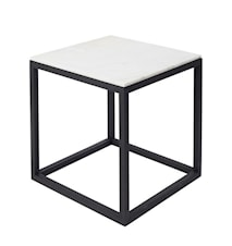 Cube Sidobord Medium Marmor - Svart