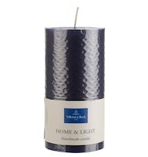 Essent.Candles Grey blue pillar 7x14cm