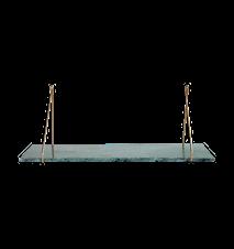 Marble Hyllplan Grön Marmor 24x70 cm
