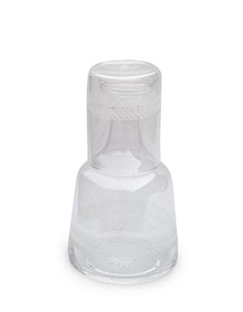 Lagerkrans Nattflaska med glas Handgraverad