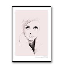 Twiggy pink poster