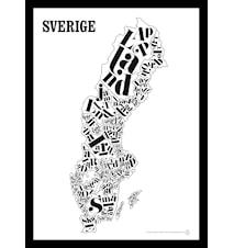 Sverigekartan poster