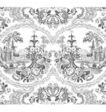 Delft baroque tapet – Sort