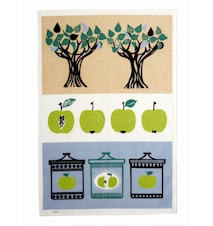 Äppelsylt Kökshandduk Grön