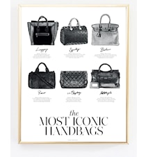 The most iconic handbags poster