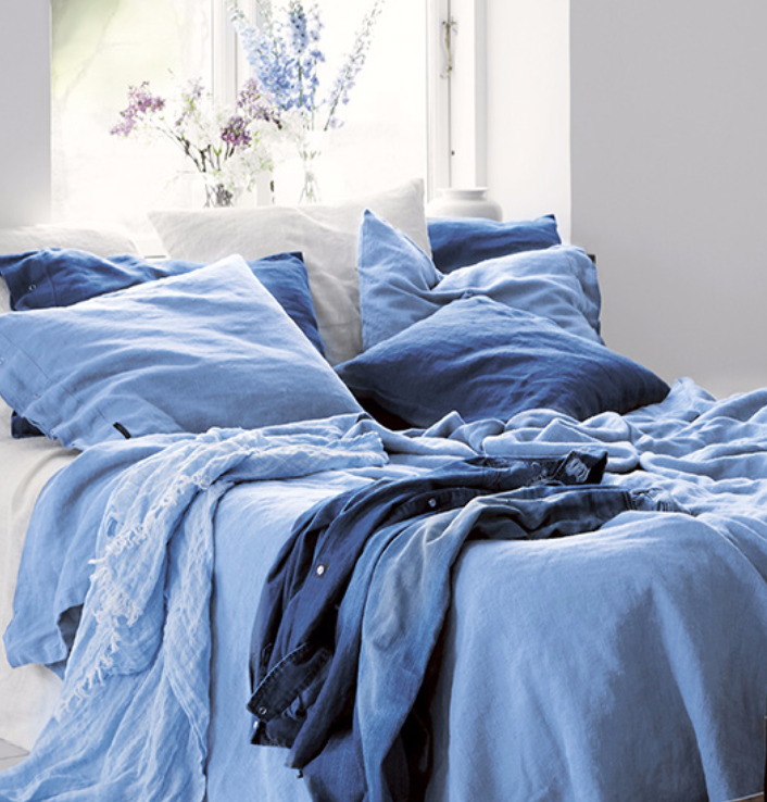 Lovely linen örngott – Dusty blue