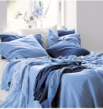 Lovely linen putetrekk – Dusty blue