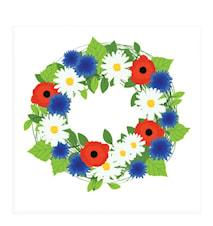 Serviett 33x33 cm Summer Flowers 20 stk