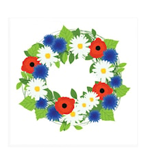 Servett 33x33 cm Summer Flowers 20 st
