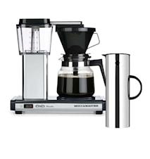 Kaffebryggare H741 + Stelton EM77 Rostfritt stål Giftbox