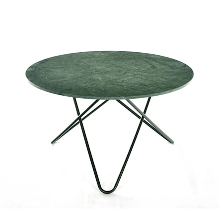 Bild av OX DENMARQ Big O table Matbord Green Indio/Svart Ø 72 cm