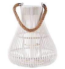 Lanterna med rem Vit 34 cm