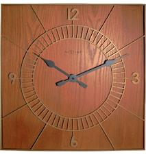 Wood square klocka