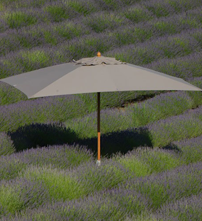Classic 3x4 parasoll Grå