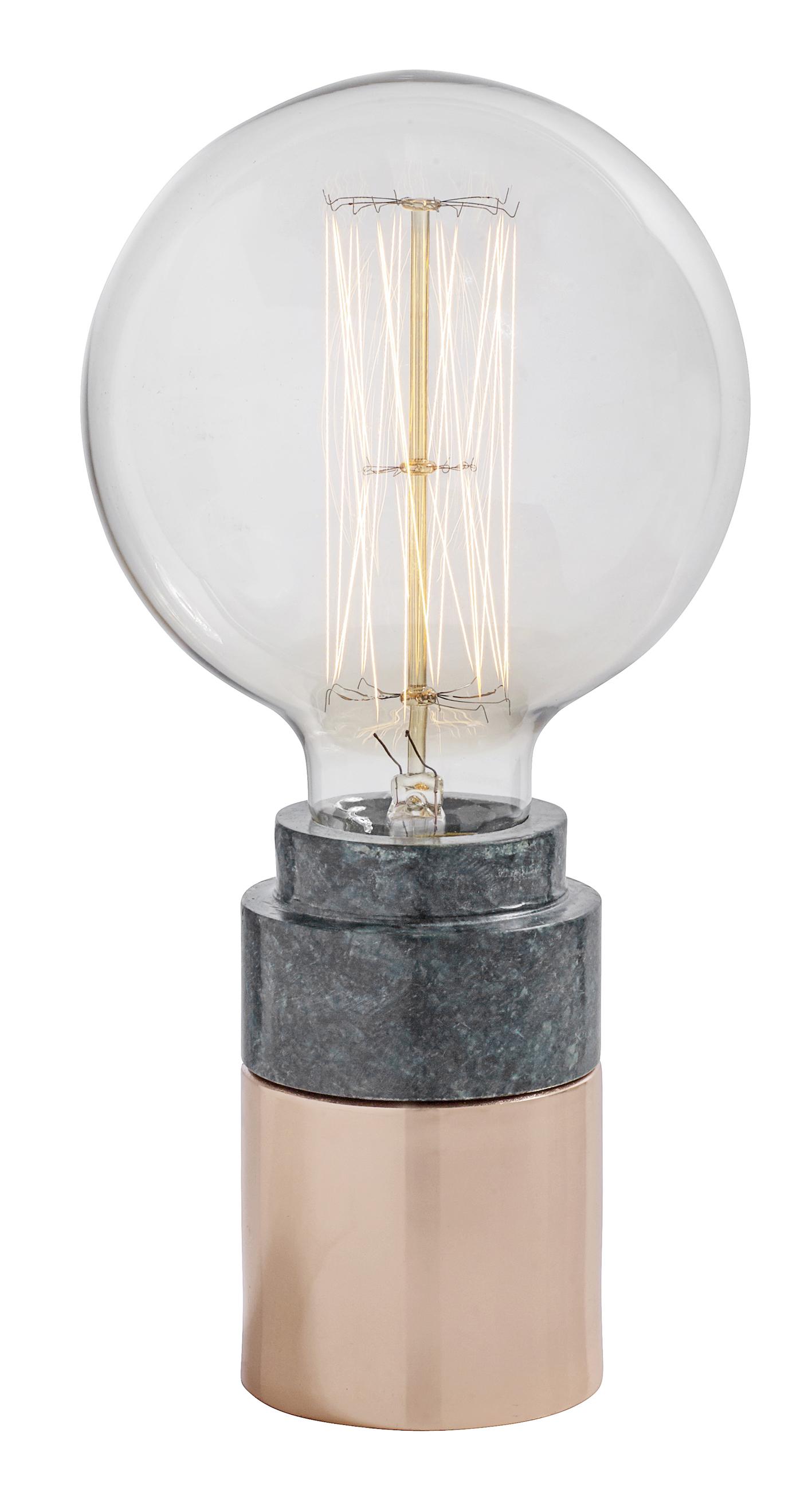 Marble bordslampa - koppar
