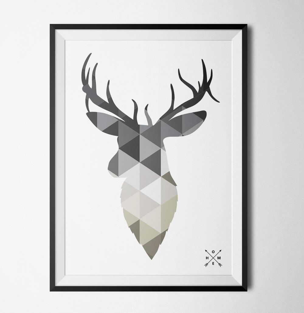 Deer poster - 40x60