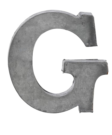 Madam Stoltz Kirjain G 5,5 cm – Sinkki