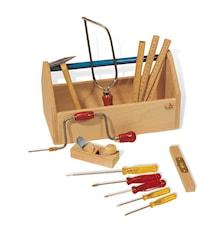 Verktygslåda med verktyg