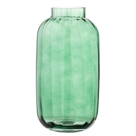 Bild av Bloomingville Vas Grön Glas 16x32cm