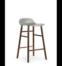 Form Barstol Grå/Valnöt 65 cm