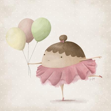 Bild av A Grape Design Ballerina 30x30 poster