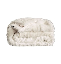 Grizzly white throw fuskpäls pläd