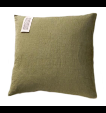 Lovely linen kuddfodral – Jeep green