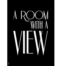 A room with a view poster - Black