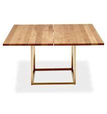 Jewel table Oil oak, Raw brass