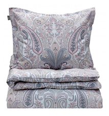 Key West Paisley Påslakan Dubbel 220x220 Light Pink
