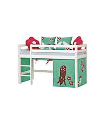 Basic loftsäng halvhög – Forest sängpaket
