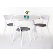 Butiksfynd - Västergården matgrupp med 4 stolar, Vit, 1 st i lager