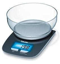 Våg med skål Blå 3 kg/1 g/1,2 L