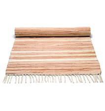 Cotton matta - Pale pink/offwhite striped