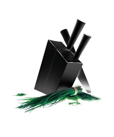 Knivblock lutande black