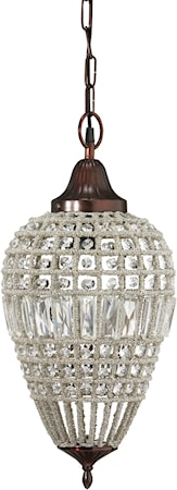 PR Home Clemont Taklampa Antik/Diamant 25cm