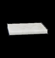 Bricka/Underlägg Vit marmor 10x10 cm