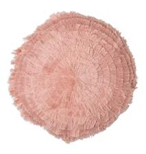 Rund pyntepude Ø 40 cm - Rosa