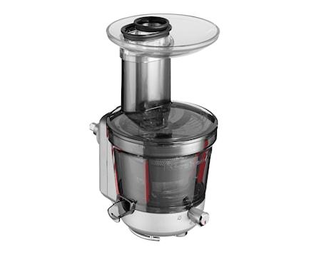 Slowjuicer/råsaftcentrifug till köksmaskin klar/grå