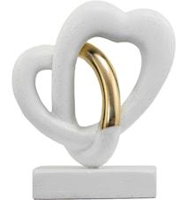 Love Flow Stenfigur Vit/Guld 20cm