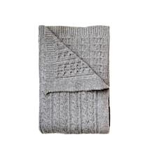 Yllepläd Josef 130x170cm grå