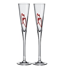 Heart Champagneglas 2-pack